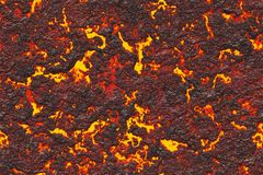 Destroy molten- nature pattern. Abstract textured. Background lava. Burning coals- crack surface. Abstract nature pattern- glow faded flame. Danger terrain- 3d royalty free illustration