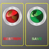 Destroy or save the planet Stock Image