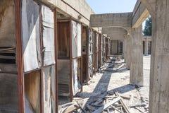 Destroyed ändrande rum Fotografering för Bildbyråer