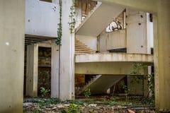 Destroyed abandoned building Stock Image
