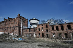 Destroyed and abandoned industrial buildings Royalty Free Stock Photography