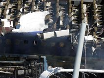 Destroyed airplane. Los Angeles, Hollywood Royalty Free Stock Image