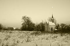 Chapelle. Destroyed in the ancient Church Stock Photo