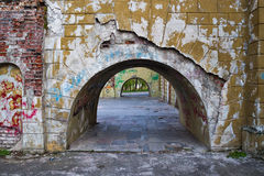Destroyed  arch at the palace. Royalty Free Stock Images
