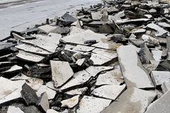 Destroyed asphalt Royalty Free Stock Photo