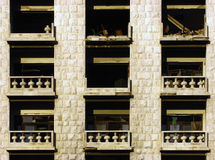 Destroyed Balconies.  Royalty Free Stock Photography