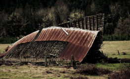 Destroyed barn Royalty Free Stock Images