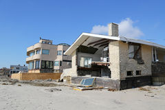 Destroyed beach house three months after  of Hurricane Sandy in Far Rockaway, NY Royalty Free Stock Images