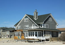 Destroyed beach property for sale in devastated area six months after Hurricane Sandy Stock Photo