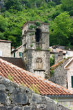 Destroyed bell tower. Destroyed belfry in Kotor (Montenegro Stock Photos