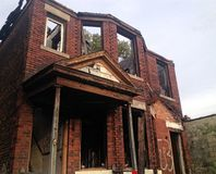 Destroyed Brick House 2 Stock Photos