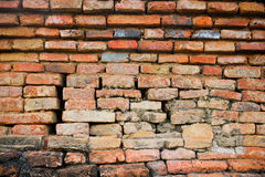 Destroyed brick wall Royalty Free Stock Images