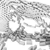 Destroyed brick wall Stock Image