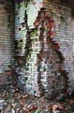 Destroyed brickwork. Interior of old building royalty free stock image