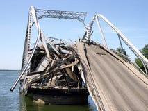 Destroyed bridge-2 Stock Photo