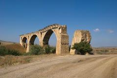 Destroyed bridge Novokavkazsky Tuapse railroad. The ruins of the bridge Novokavkazskogo Tuapse railroad Stock Image