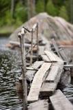 Destroyed bridges Stock Photo