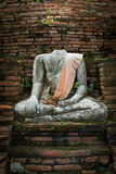 Destroyed Buddha statue Royalty Free Stock Photos
