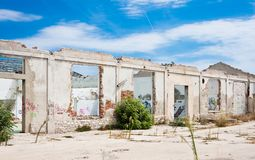The destroyed building Royalty Free Stock Images