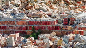 Destroyed building bricks detail Stock Images