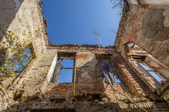 Destroyed building Royalty Free Stock Photos