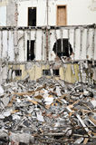 Destroyed building, debris. Series Royalty Free Stock Image