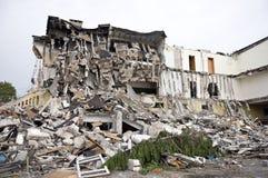 Destroyed building, debris. Series Royalty Free Stock Photo