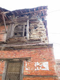 Destroyed building in kathmandu. Effects of the earthquake Royalty Free Stock Photos
