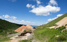 Destroyed building mines in the Altai Mountains Stock Photography