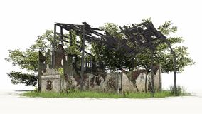 Destroyed building - ruin Royalty Free Stock Image