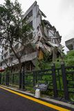 Destroyed building in 2008 Sichuan Earthquake Memorial Site. 2008 Sichuan Earthquake Memorial Site. Buildings after the big earthquake in Wenchuan, Sichuan stock image