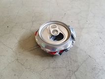 Destroy can for reduce space to put in garbage 10. Destroyed cans to reduce space in garbage for saving the global warming and keep good environment. travelers royalty free stock photos