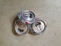 Destroy can for reduce space to put in garbage 06. Destroyed cans to reduce space in garbage for saving the global warming and keep good environment. travelers royalty free stock image