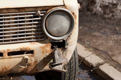 Destroyed car Royalty Free Stock Images