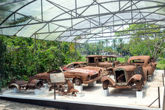 Destroyed Car Collection Stock Images