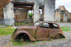 Car of the doctor in Oradour sur Glane Royalty Free Stock Photography