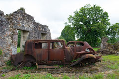 Cars of the doctor in Oradour sur Glane Royalty Free Stock Photography