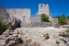 Destroyed castle in Dvigrad, Croatia Royalty Free Stock Photo