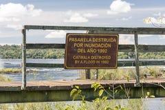 Destroyed Catwalk Iguassu Argentina Stock Images