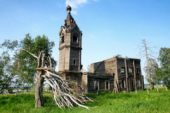 Destroyed church. Dionysius the Areopagite's Church (second half of XVIII century) in Muratovka village, Chelyabinsk region, Russia Royalty Free Stock Photos