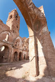 Destroyed church. An old church destroyed during the spanish civil war in Belchite, Zaragoza Royalty Free Stock Image