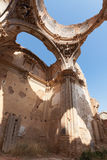 Destroyed church. The dome of an old church destroyed during the spanish civil war in Belchite, Zaragoza Royalty Free Stock Photos