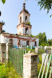 The destroyed Church of the Ascension settlement Myt. Russia Stock Photos