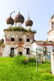 The destroyed Church of the Ascension settlement Myt. Russia Royalty Free Stock Photography