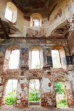 The destroyed Church of the Ascension settlement Myt. Russia Royalty Free Stock Photos