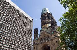 The destroyed Church in Berlin Stock Image