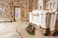 Interior church in Oradour sur Glane Royalty Free Stock Photo