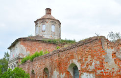 The destroyed Church of St. Nicholas in the village Priluki. The destroyed Church of St. Nicholas in the village Priluki, near Vologda, Russia Stock Photography