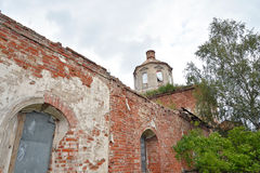 The destroyed Church of St. Nicholas in the village Priluki. The destroyed Church of St. Nicholas in the village Priluki, near Vologda, Russia Stock Photos