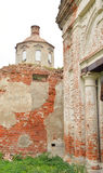 The destroyed Church of St. Nicholas in the village Priluki. The destroyed Church of St. Nicholas in the village Priluki, near Vologda, Russia Royalty Free Stock Photos